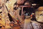Underground train in mine — Stock Photo
