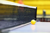 Racket, ball, table — Stock Photo
