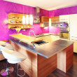 Modern Kitchen with bar — Stock Photo
