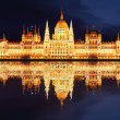 Stock Photo: Budapest - Hungariparliament at night - Hungary