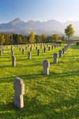 Cemetery for german soldiers - 2. world war - Slovakia — Stock Photo