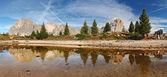 Mountain lake reflection - Lago Limedes - Italy alps — Stock Photo