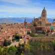 The ancient city of Segovia from Alcazar. - Stock Photo