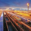 Stock Photo: Train Freight transportation platform - Cargo transit