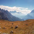 Panorama mountain with footpath - Stock Photo