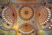 Inside the islamic Blue mosque in Istanbul, Turkey — Stock Photo