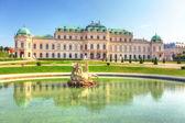 Belvedere sarayı viyana - avusturya — Stok fotoğraf