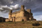 Manzanares el Real Castle (Spain), build in the 15th. century — Stock Photo