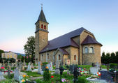 Nice Catholic Church in eastern Europe - village Babin - Orava - — Stock Photo