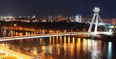 Bratislava cityspace - panorama from castle — Stock Photo