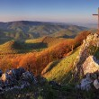 Stock Photo: Panoramlandscape at sunset - SlovakiMountain