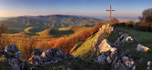 Panorama landscape at sunset - Slovakia Mountain — Stock Photo
