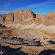 Panoramic view of Dolomiti Mountains - Group Tofana di Tores - I — Stock Photo