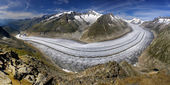 Aletsch glacier - Swiss Alps — Stock Photo