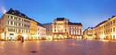 Bratislava Main Square at night - Slovakia — Stock Photo