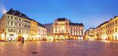 Bratislava Main Square at night - Slovakia — Stock Photo
