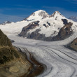 Aletsch glacier - Upper — Stock Photo