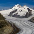 Aletsch glacier - Upper — Stock Photo