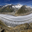 Stock Photo: Aletsch glacier - Swiss Alps