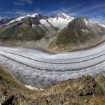 Aletsch glacier - Swiss Alps — Stock Photo