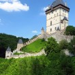 The exterior of czech castle named karlstejn — ストック写真