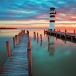 Lighthouse at Lake Neusiedl - Austria — Stock Photo