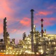 Stock Photo: Oil and gas industry - refinery at twilight - factory - petroche