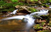 Waterfall In national park Krkonose - Czech - Cernohorsky waterf — Stock Photo