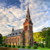 Nice Catholic Church in eastern Europe — Stock Photo