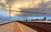 Railroad - Railway — Stock Photo
