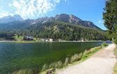 Lake Misurina in Italy mountain dolomites — Stock Photo