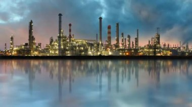 Oil refinery - Industry plant — Stock Video