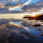 Sea sunset in Iceland — Stock Photo