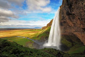 Waterfall in Iceland - Seljalandsfoss — Stock Photo