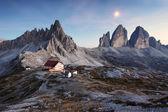 Tre Cime di Lavaredo - Dolomite Alps - Italy Europe — Stock Photo