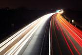 Foto de larga exposición del tráfico — Foto de Stock