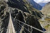 Trift suspension footbridge Windegg — Stock Photo