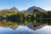 Slovakia Mountain Lake in Tatra - Strbske Pleso — Stock Photo