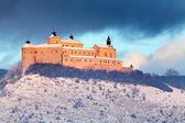 Krasna Horka Castle - beauty winter landscape, Slovakia — Stock Photo