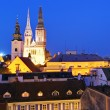 Zagreb city at night - Croatia — Stock Photo