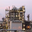 Oil and gas refinery at twilight - Petrochemical factory — Stock Photo #28614243