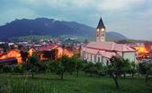 Terchova village at dusk - Slovakia — Stock Photo