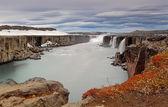 Selfoss waterfall in Vatnajokull National Park, Northeast Icelan — Stock Photo