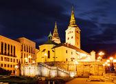 Zilina - Trinity Cathedral, Slovakia at night — Stock Photo