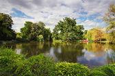 Lake in park - Maksimir, Zagreb — Stock Photo
