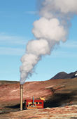 Geothermal Power Station - Turquoise Lake, Iceland — Stock Photo
