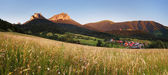 Mountain meadow panorama with village - Slovakia, Vratna — Stock Photo