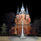 Church in Postorna - part of town Breclav in south Moravia in Cz — Stock Photo