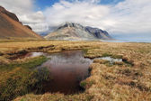 South east Iceland mountain with water — Stock Photo