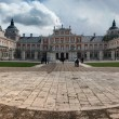 Royal Palace of Aranjuez with dramatic sky in Spain. — Stock Photo